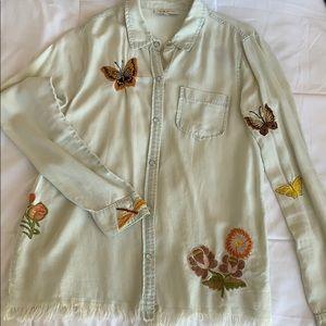 Vintage long sleeve button up/light jacket